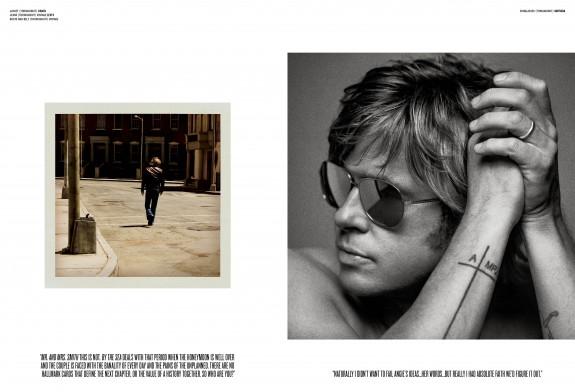 Брад Пит гол до кръста за списание V - Magazine (3)