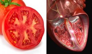 домат - сърце